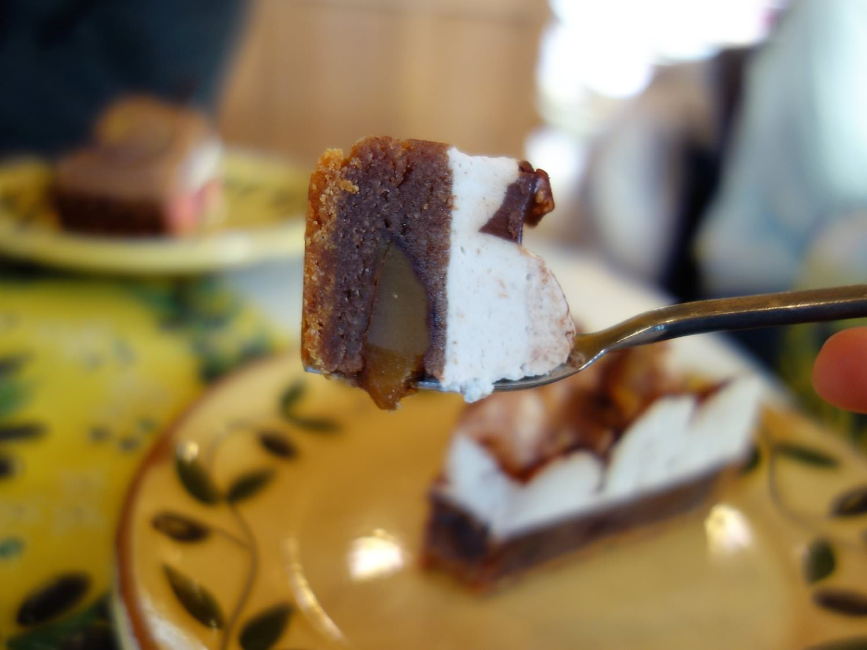 Tarte au chocolat et marrons