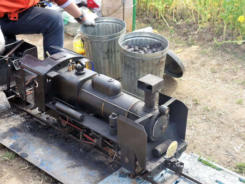 Coal used to power mini locomotive