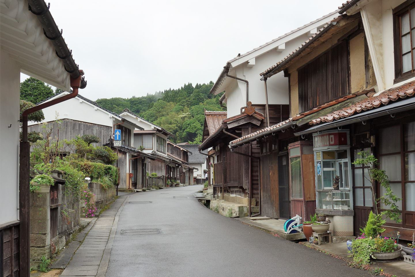 Strolling the historical Omori district in Oda, Shimane Prefecture, near Iwami Ginzan Silver Mine.