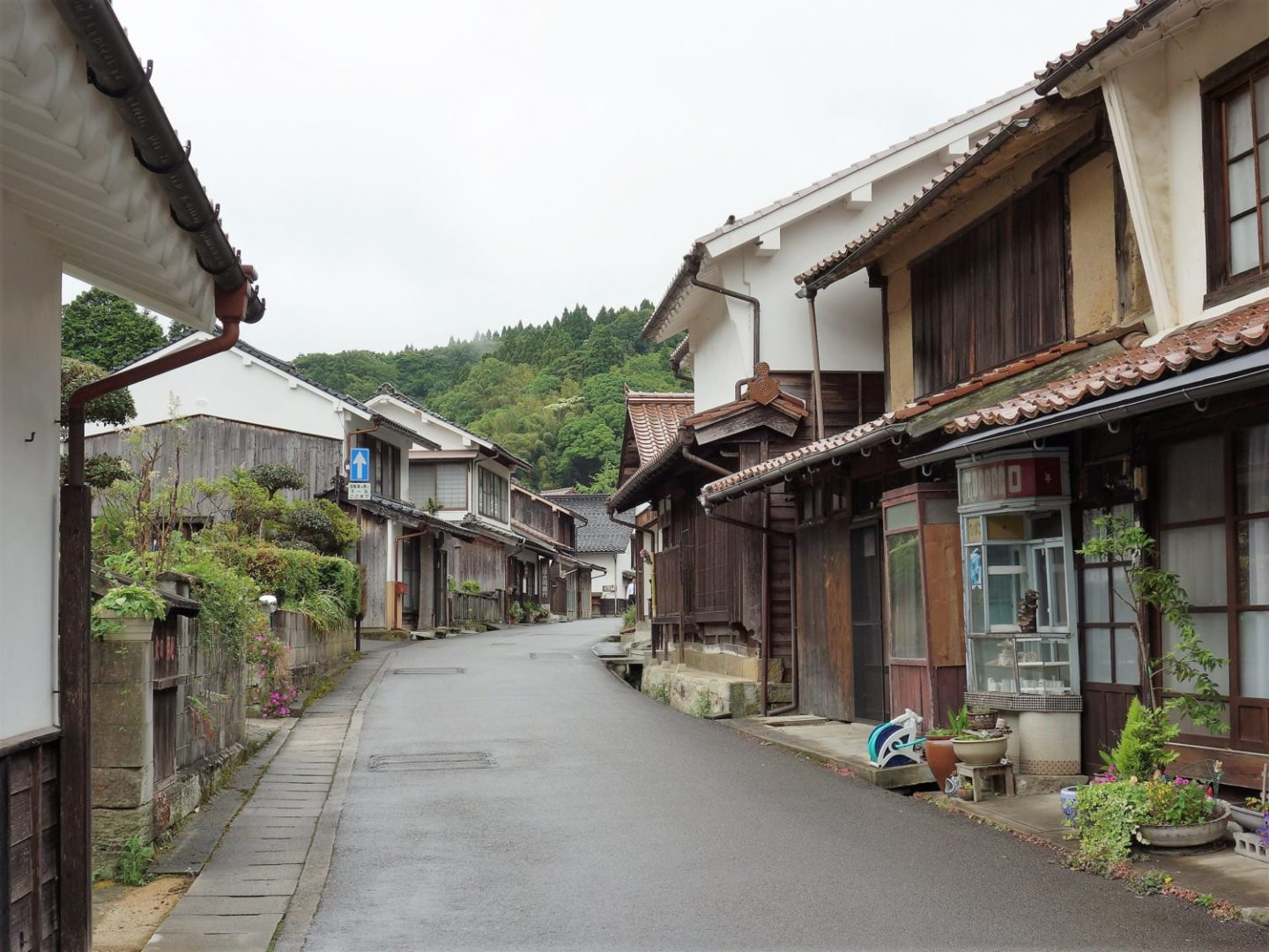 Townscape of Omori district, Oda, Shimane Prefecture