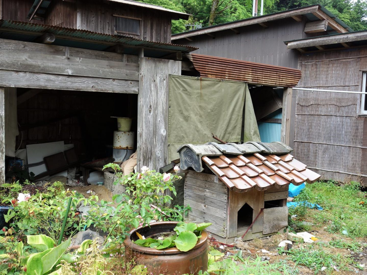 Dog house in Omori district