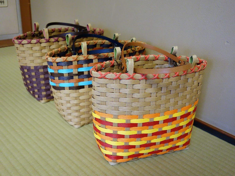 Baskets to take to onsen, or hot spring