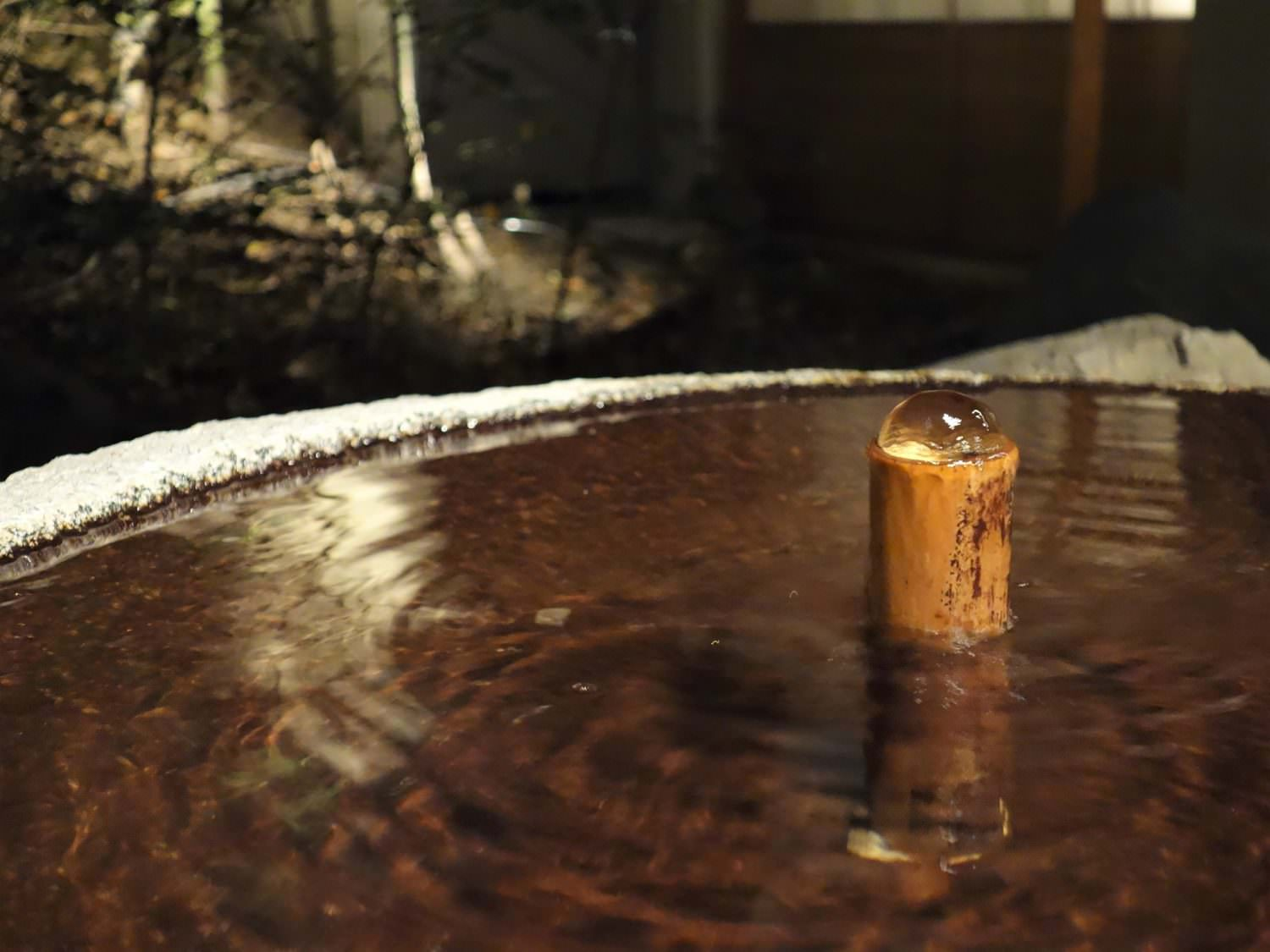 A little fountain where hot water is coming out