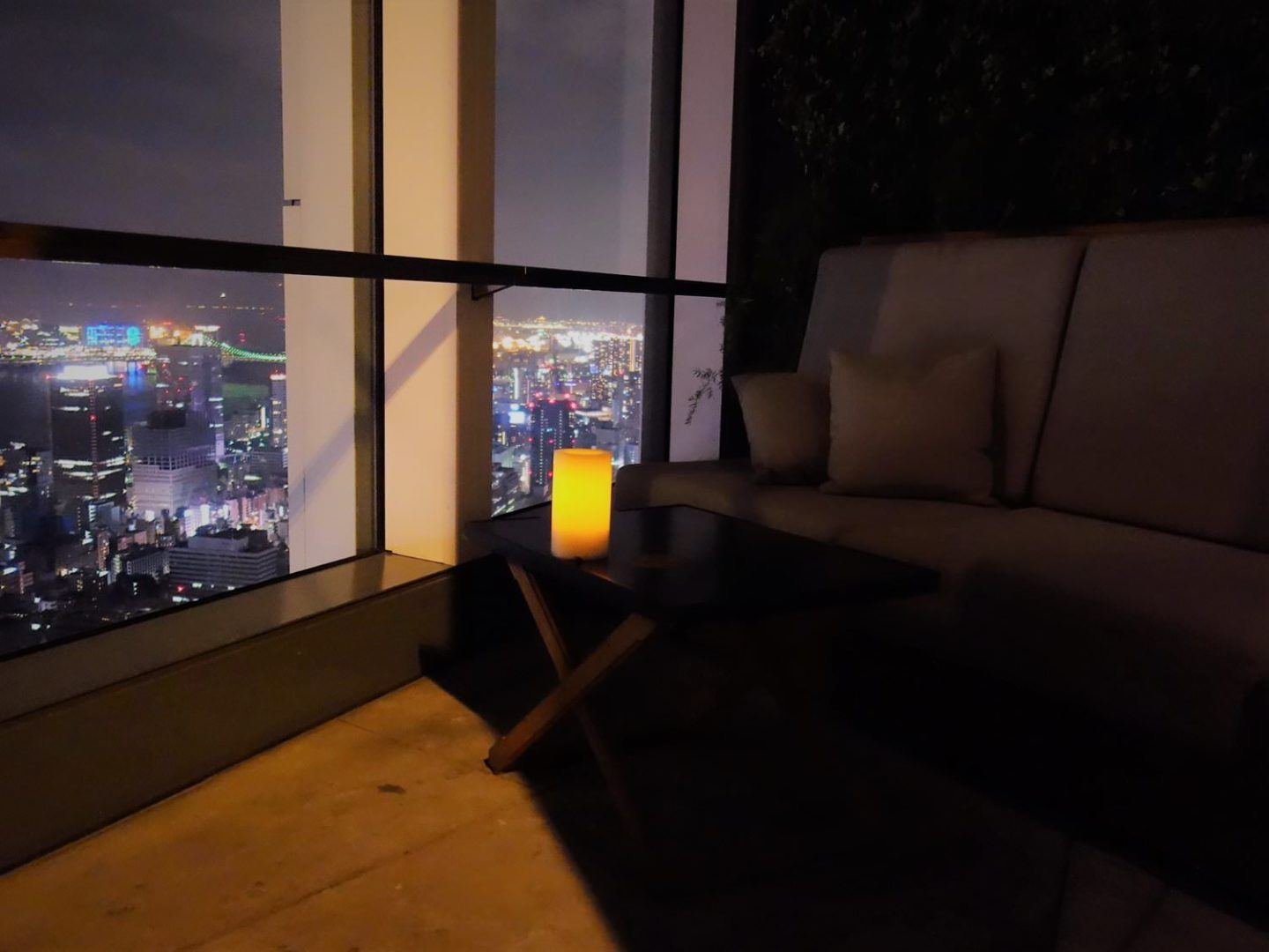 Window side seat at Rooftop Bar, Andaz Tokyo