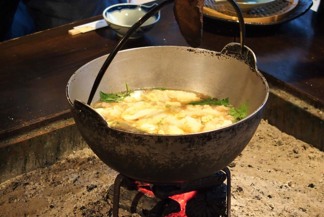 """Wasabi Nabe"" at Funabarakan: A must-try hot pot dish in Izu, Shizuoka Prefecture"