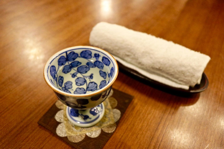 """Ume plum juice served at """"Lounge Swan"""" in Ochiairo Murakami"""