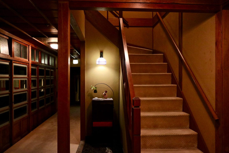 Staircase inside Ochiairo Murakami