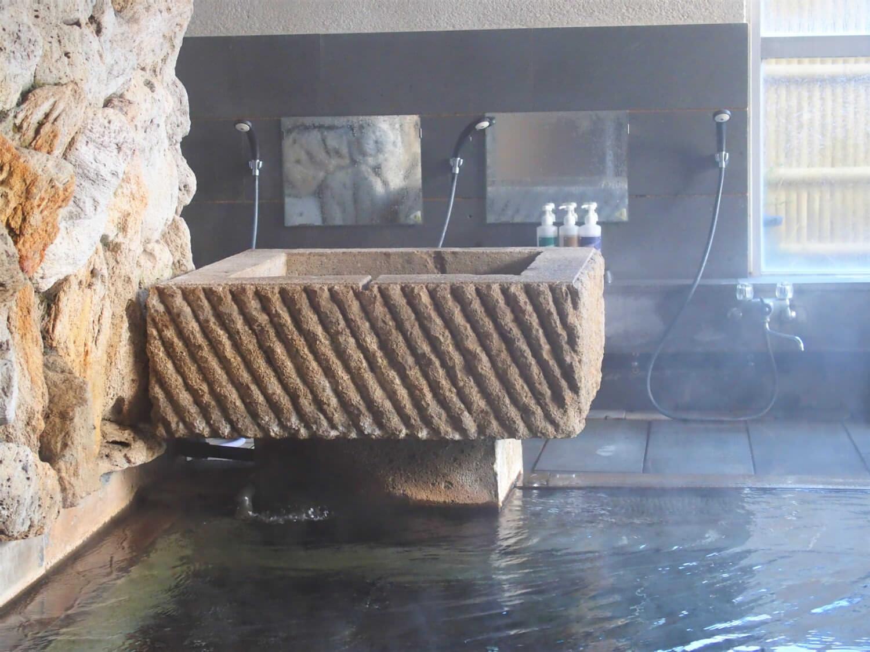 Washing area of onsen