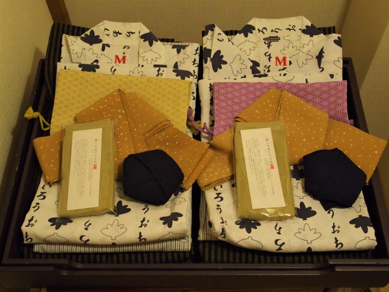 Yukata placed inside a room at Ochiairo Murakami