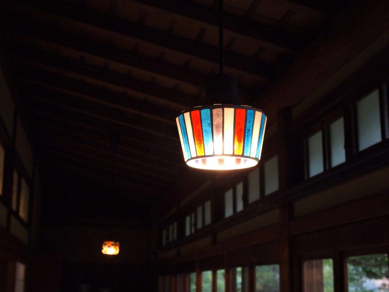 A hallway lamp at Ochiairo Murakami