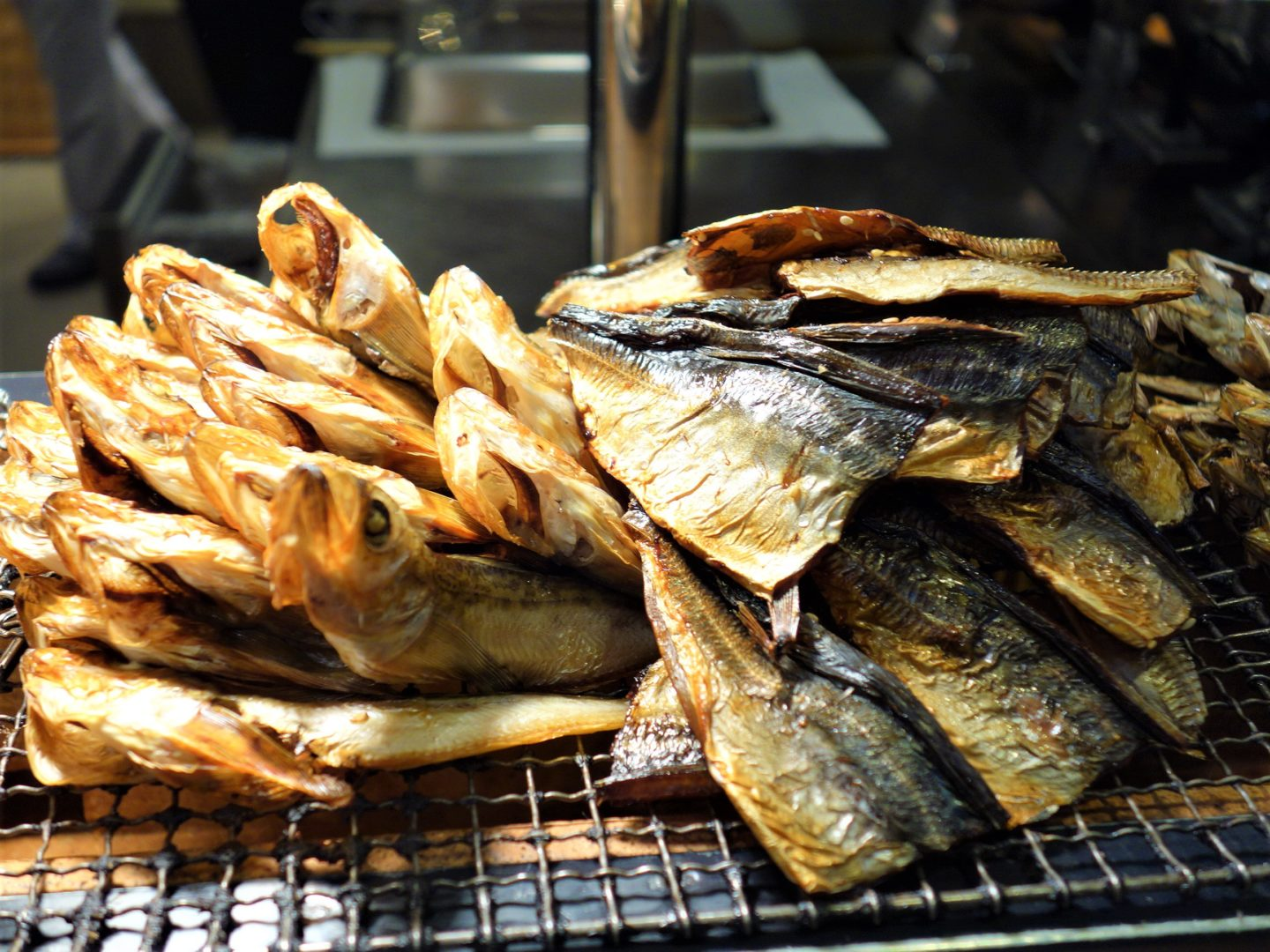 Dried fish served at breakfast