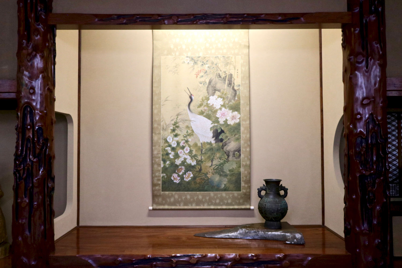 "A rosewood ""tokonoma"" alcove at a banquet hall"
