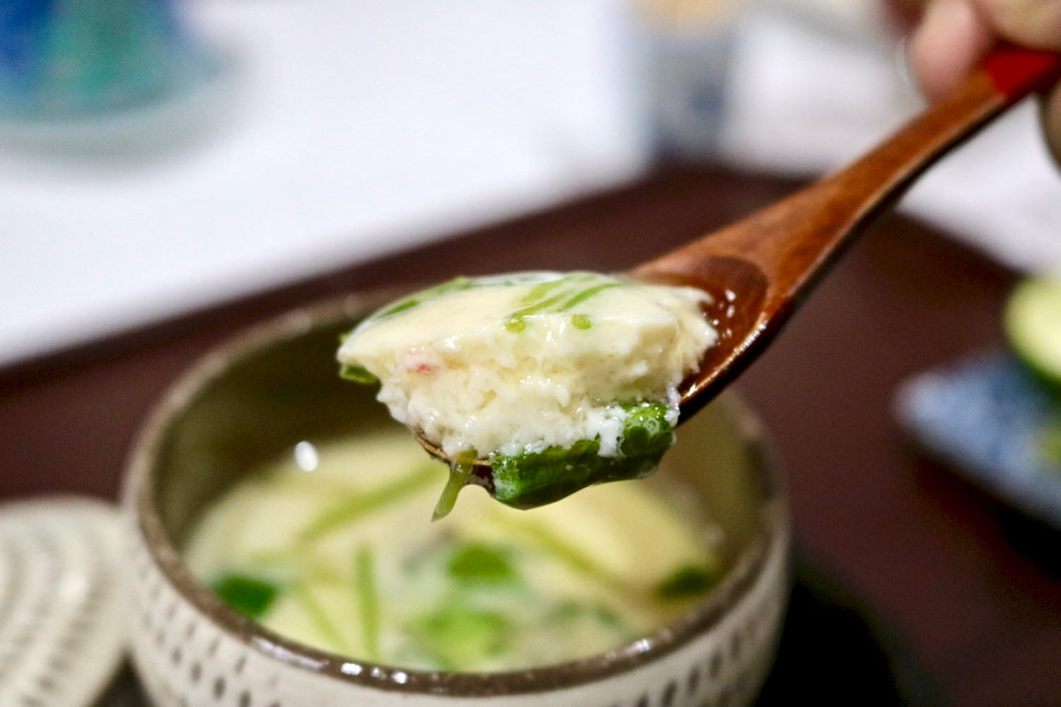 """Chawanmushi,"" a steamed egg custard"