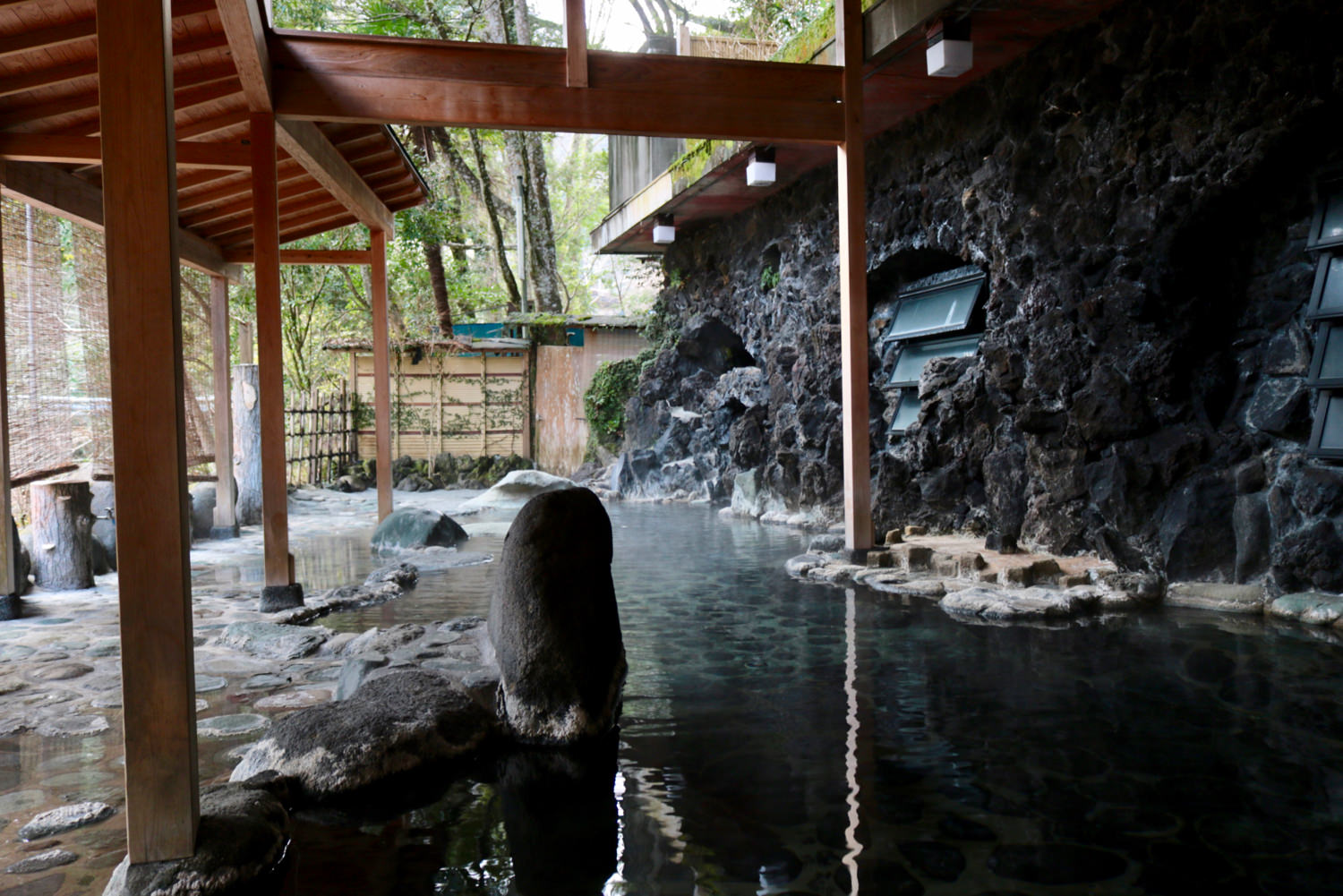 """Tengu-no-yu"" open-air onsen"