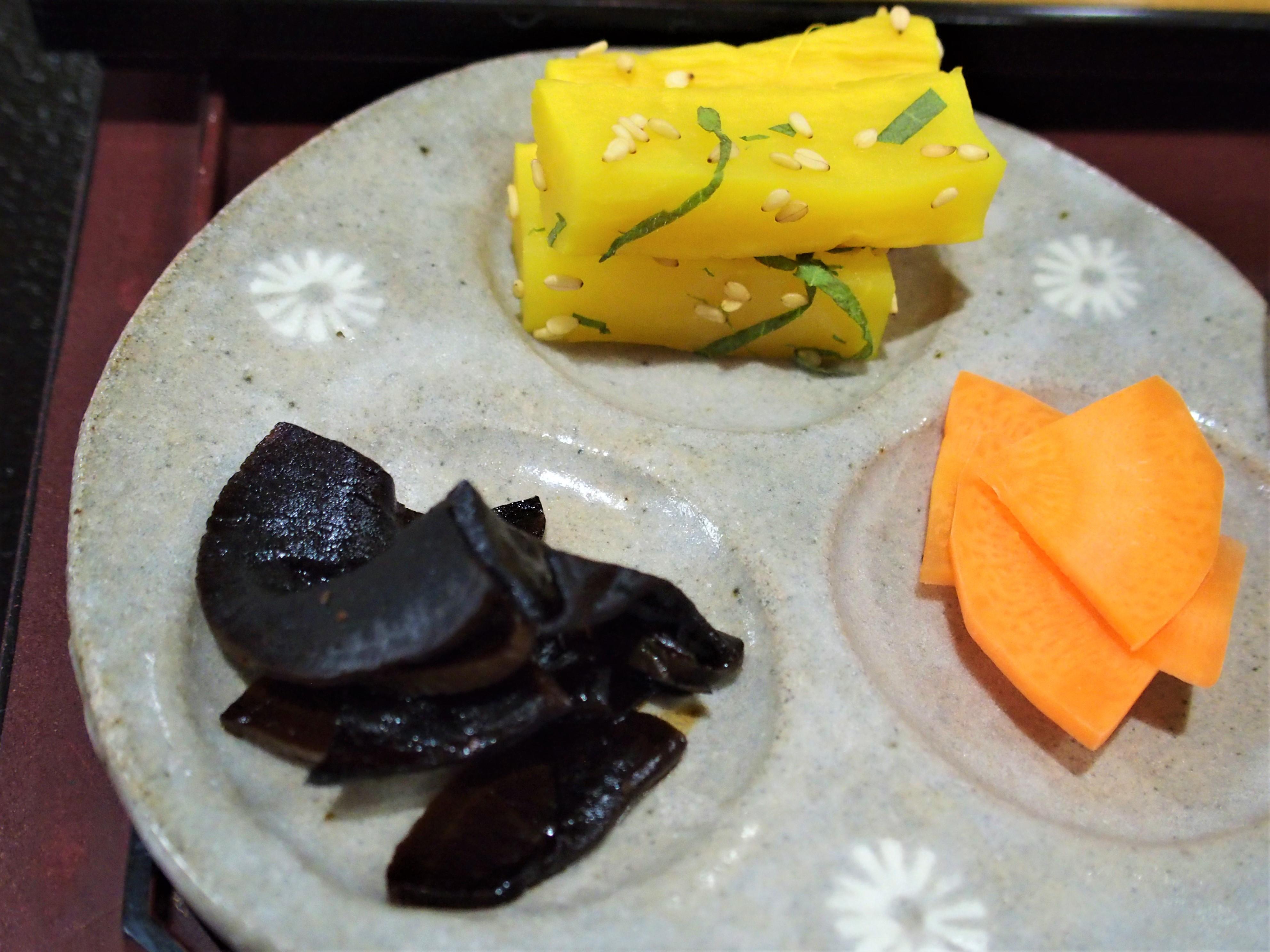 """Tsukemono"" (Japanese pickles)"