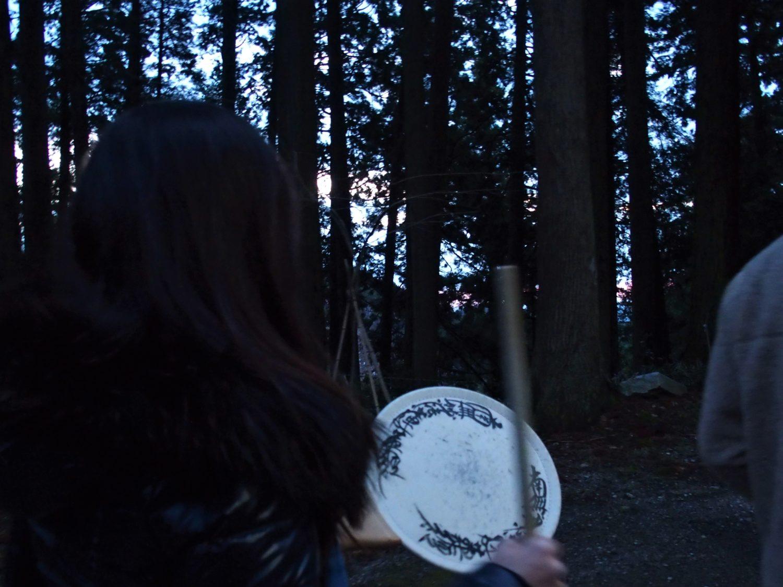 Walking toward Asahi-Ga-Mori (Sunrise Woods)