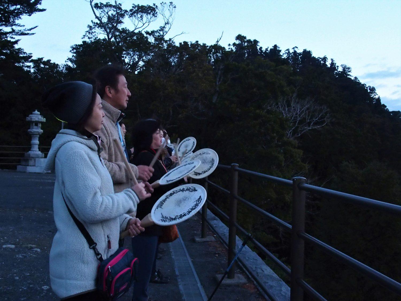Chanting Odaimoku at Asahi-Ga-Mori (Sunrise Woods)