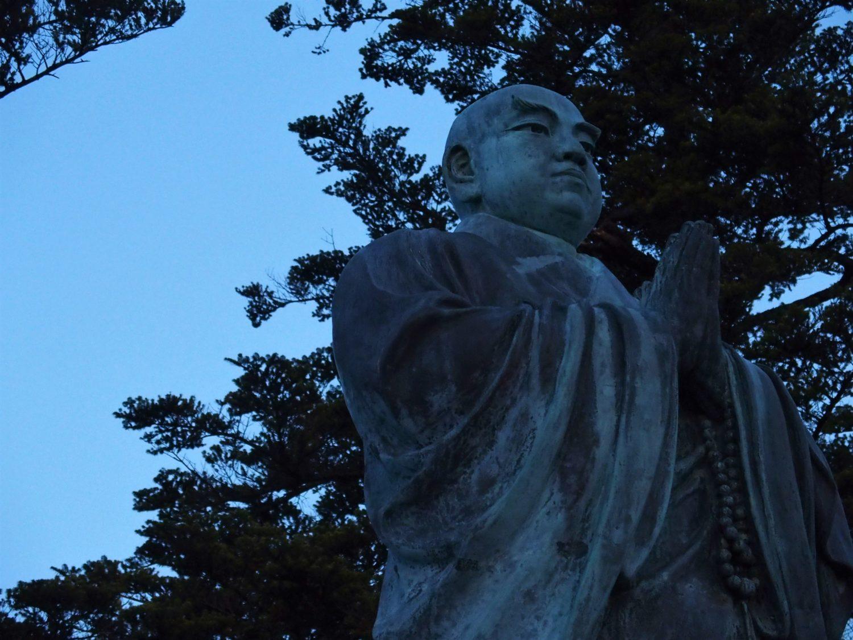 Bronze statue of Nichiren Shonin