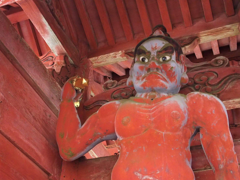 """A """"kongo rikishi"""" statue at Niomon Gate (front gate)"""