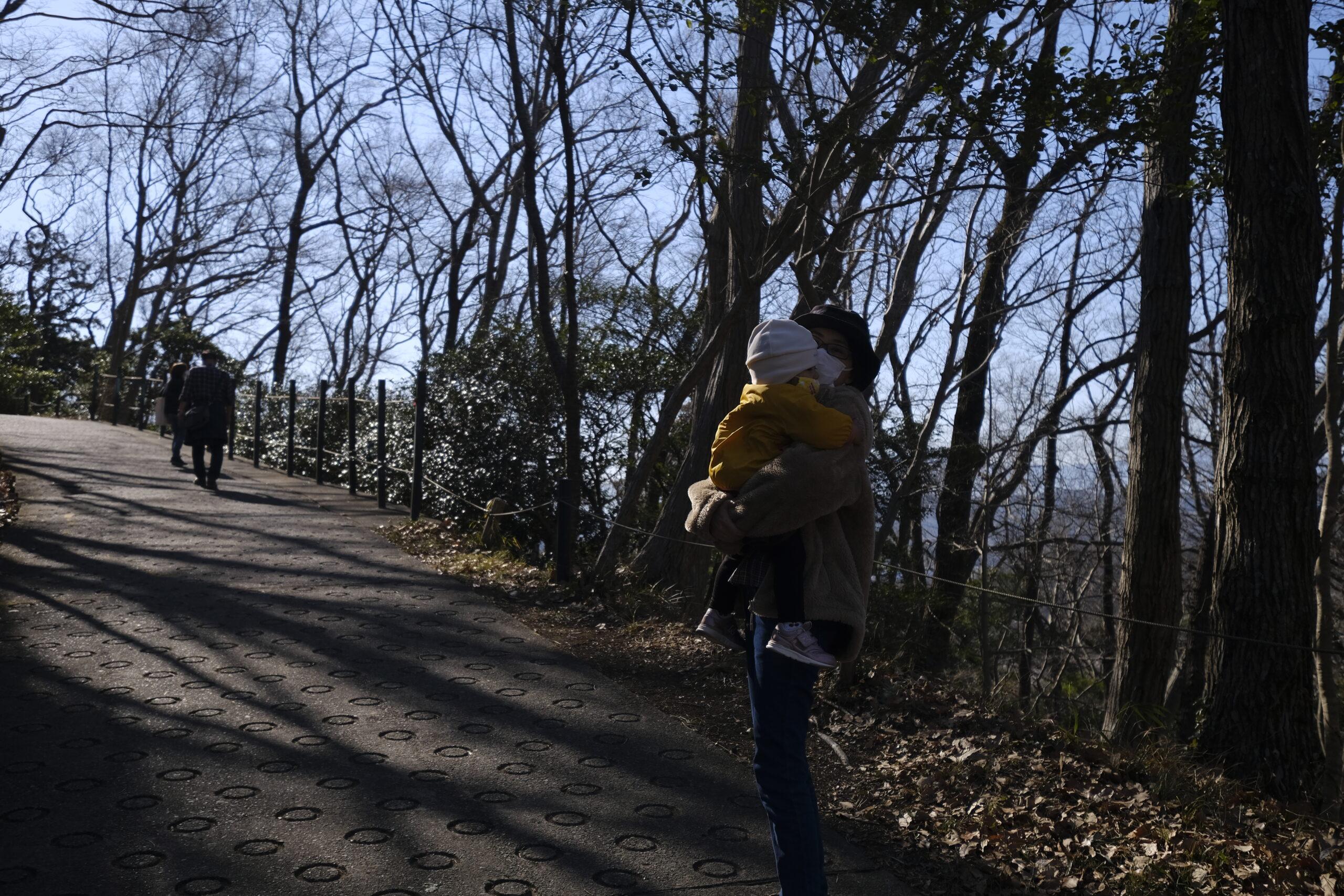 山頂を目指す登路途中の写真