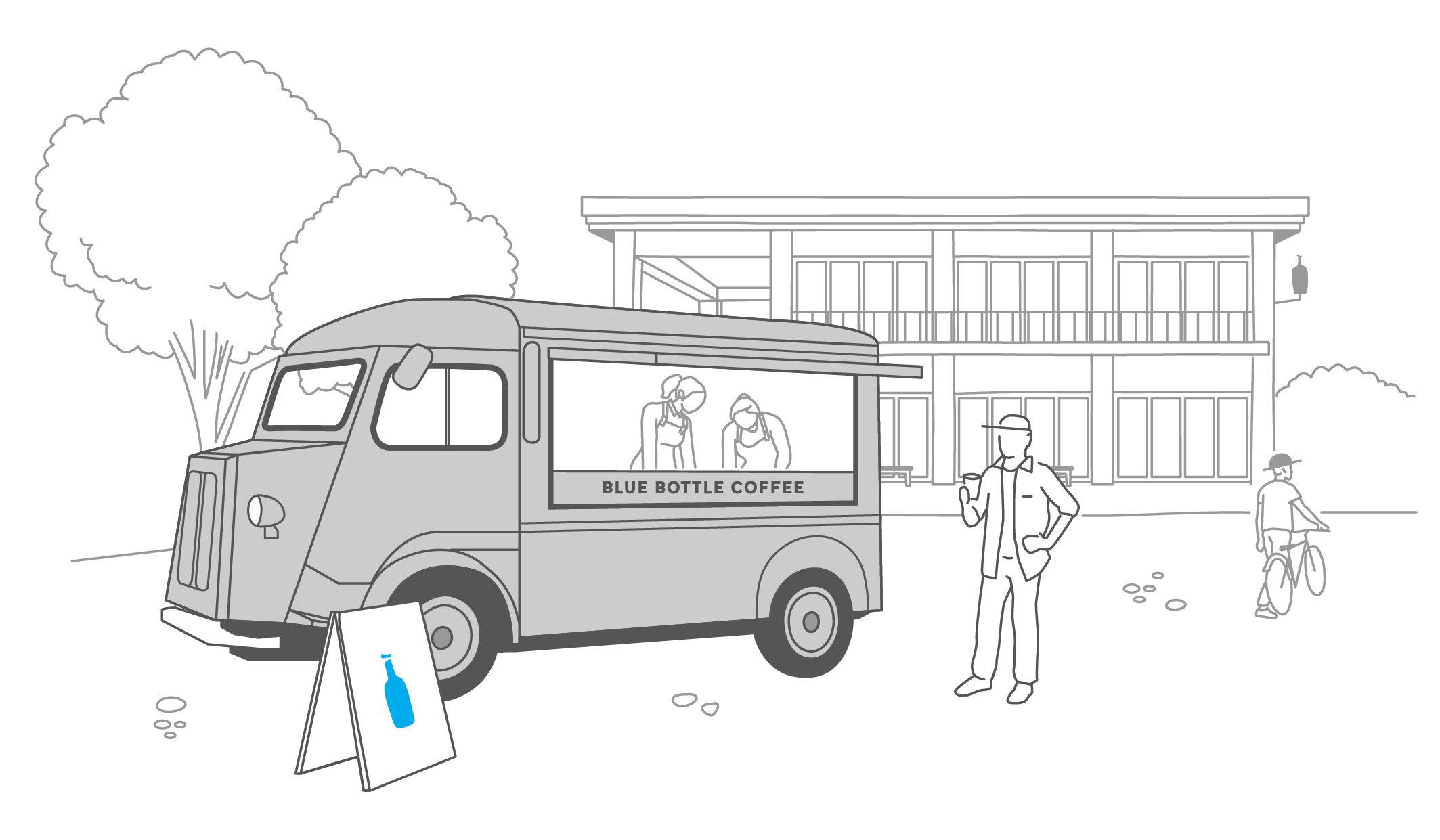 国内初となるブルーボトルコーヒートラック