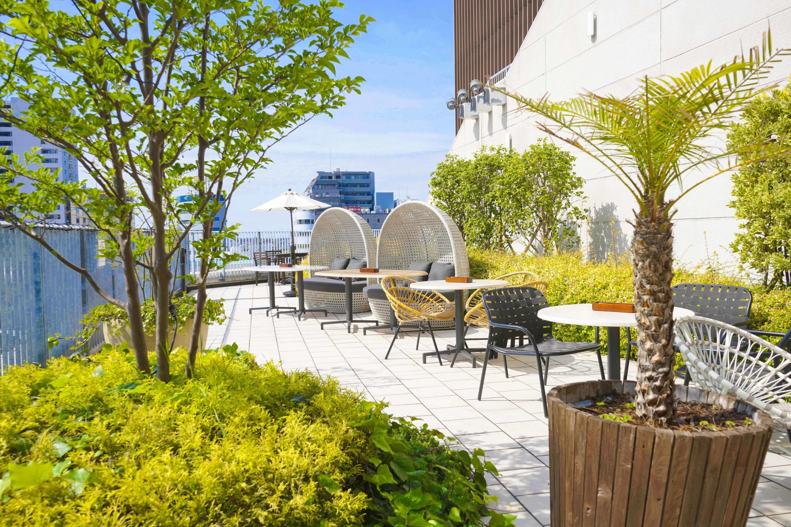 アロハテーブル テラスモール湘南店のテラス席