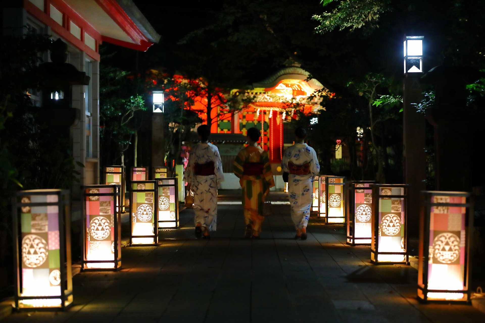 江の島灯籠 過去開催の写真