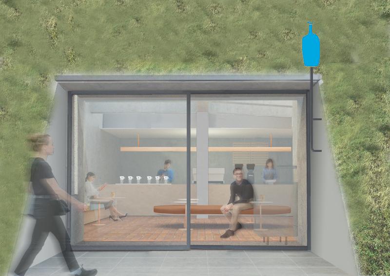 ブルーボトルコーヒーが白井屋ホテル敷地内に「ブルーボトルコーヒー 白井屋カフェ」をオープン