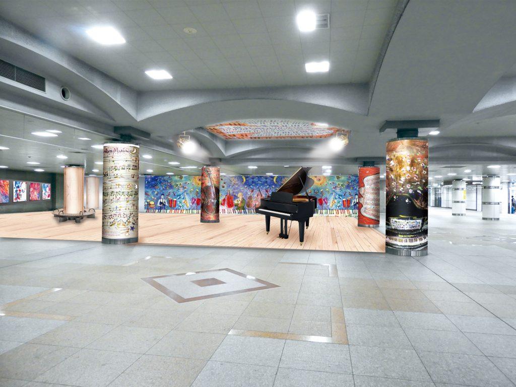 「湘南台アートスクエア」が着工 湘南台駅地下広場を芸術の発信拠点に