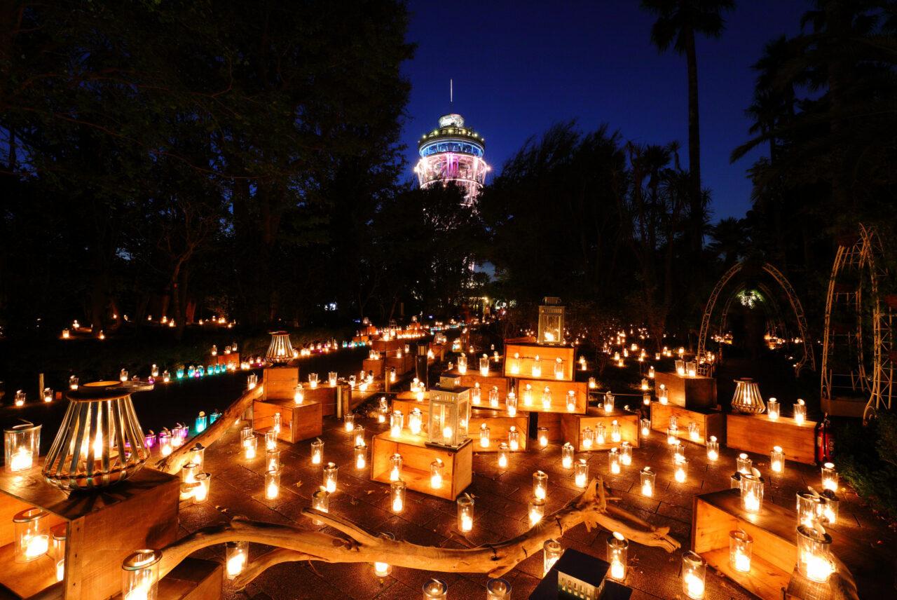 江の島の秋夜を彩るキャンドルイベント「湘南キャンドル2021」が開催